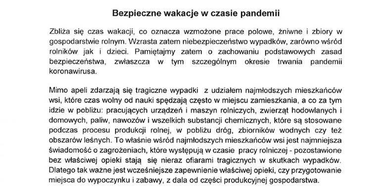 Bezpieczne wakacje w czasie pandemii