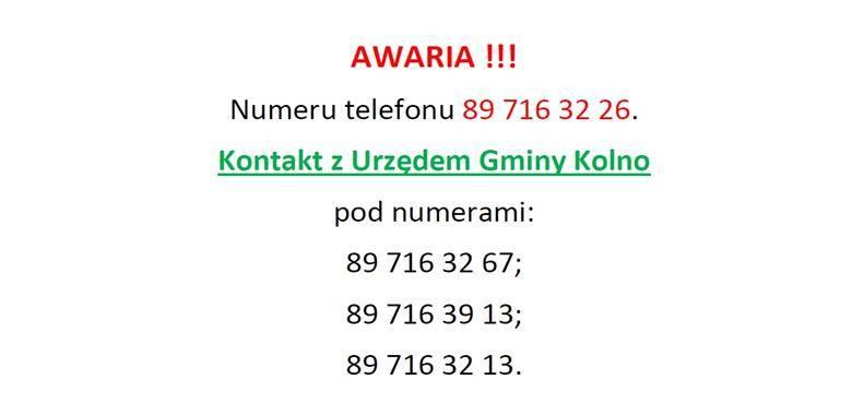 Awaria numeru telefonu 89 716 32 26