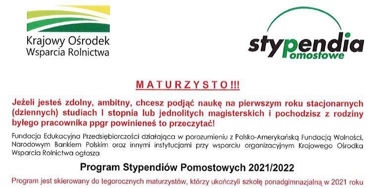 Program Stypendiów Pomostowych 2021/2022